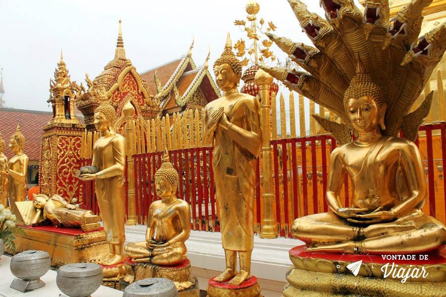 Tailandia Chiang Mai Doi Suthep - Poses de Buda