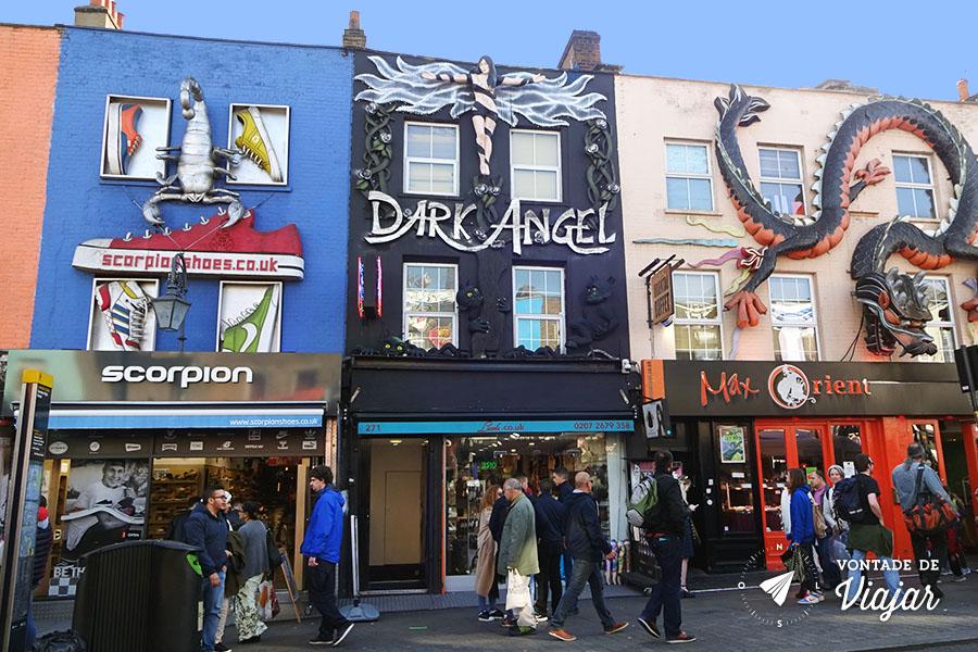 Camden - Lojas de moda alternativa (foto do blog Vontade de Viajar)