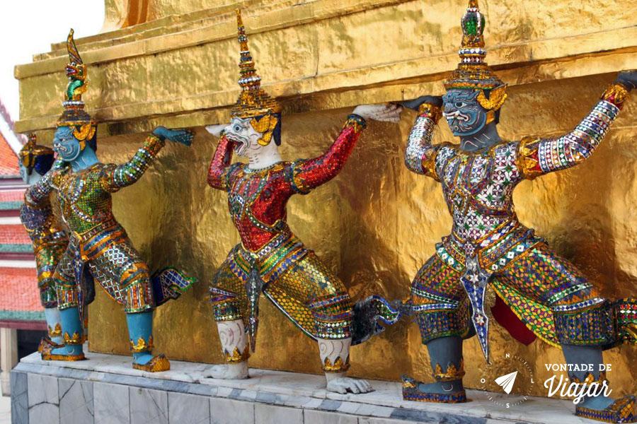 Bangkok - Grand Palace - blog Vontade de Viajar