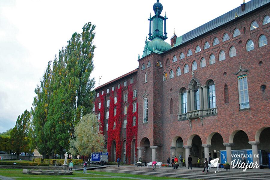 Estocolmo - City Hall a sede da prefeitura - foto de Mariana Magalhaes Costa para o blog Vontade de Viajar