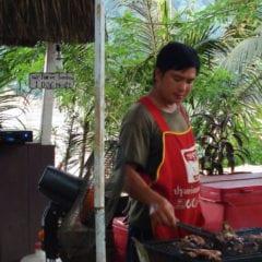 Luang Prabang - Churrasco carne de cachorro