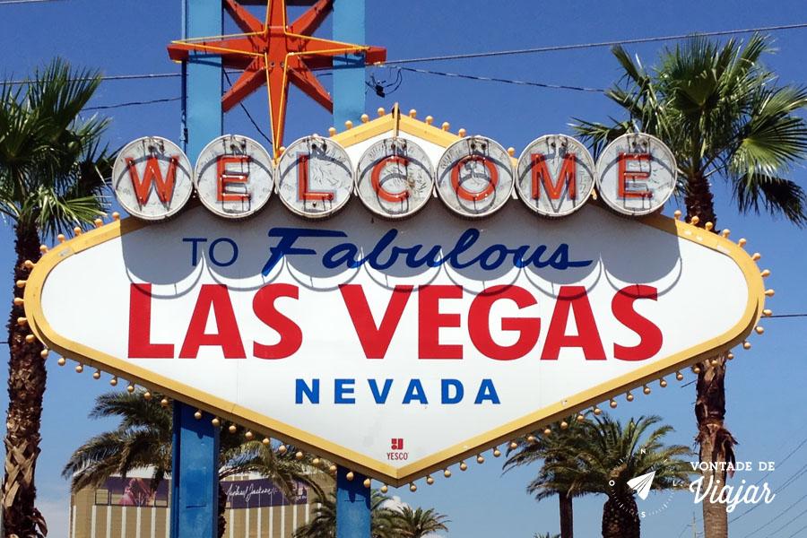 California - A famosa placa Welcome to Fabulous Las Vegas
