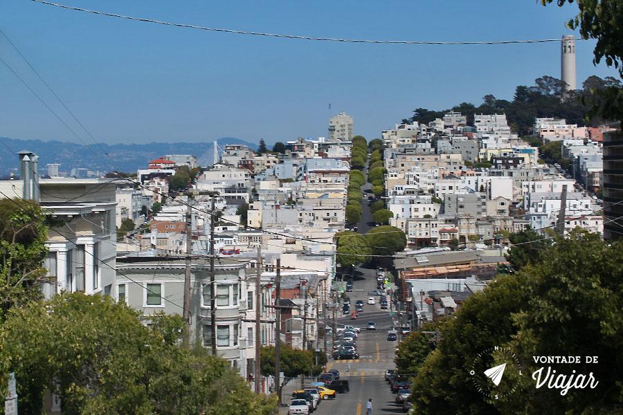 California - A rua mais ingreme San Francisco