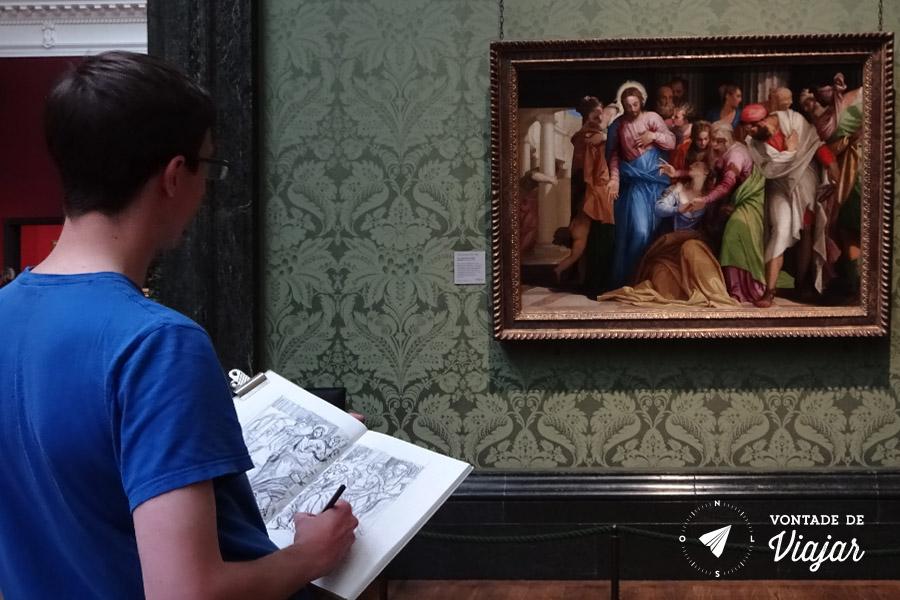 2 dias em Londres - Estudante de arte na National Gallery