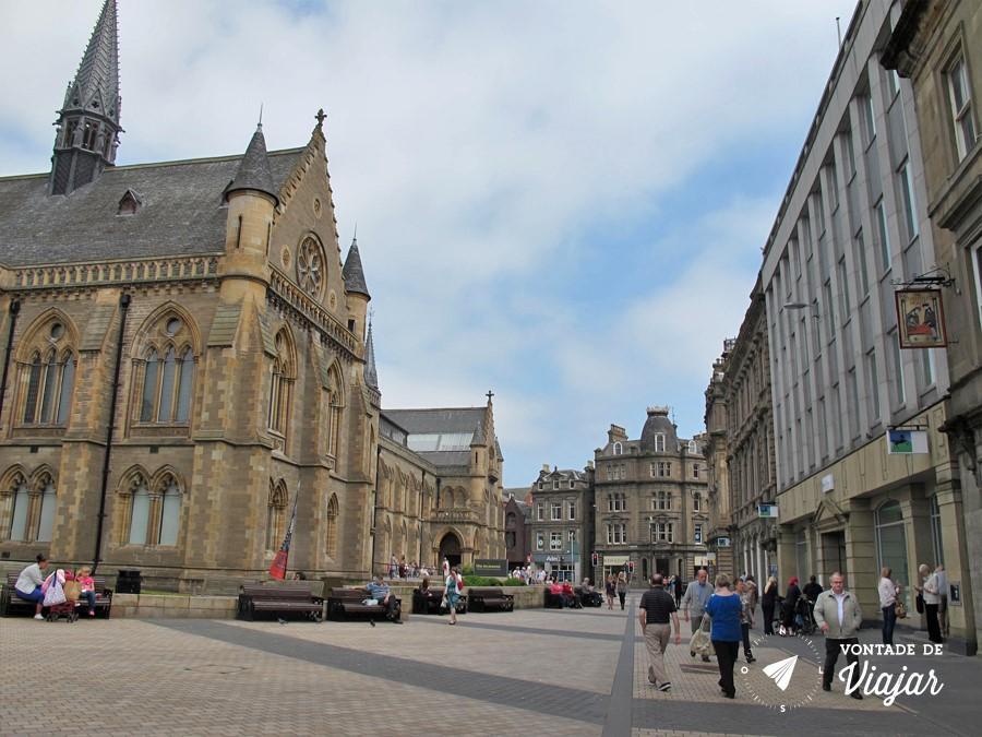 Dundee - Centro de Dundee na Escocia - foto do blog Vontade de Viajar