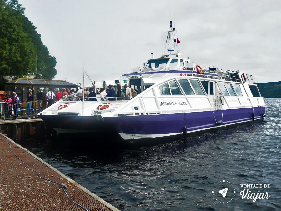 Escocia - Passeio de barco no Lago Ness - foto do blog Vontade de Viajar
