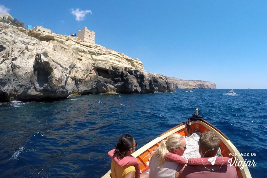 O que fazer em Malta - Passeio de barco Blue Grotto