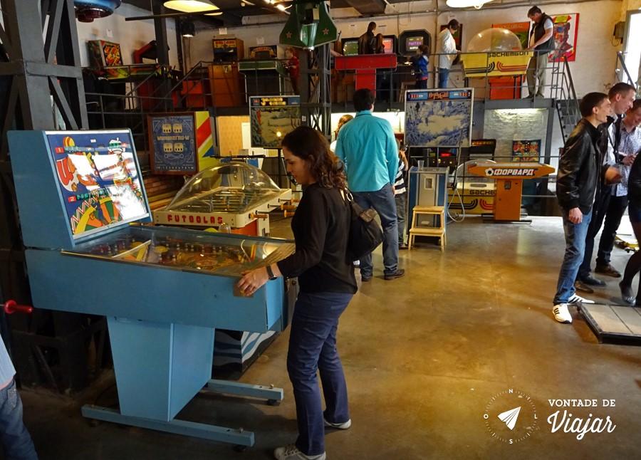 Moscou - Museu do Arcade - Pinball sovietico