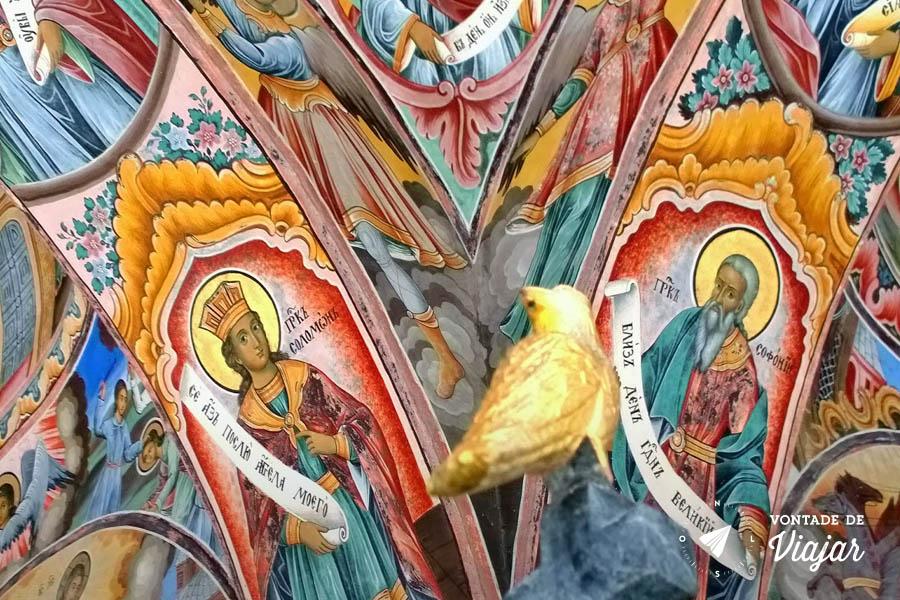 Viagem a Bulgaria - Afrescos no Mosteiro de Rila