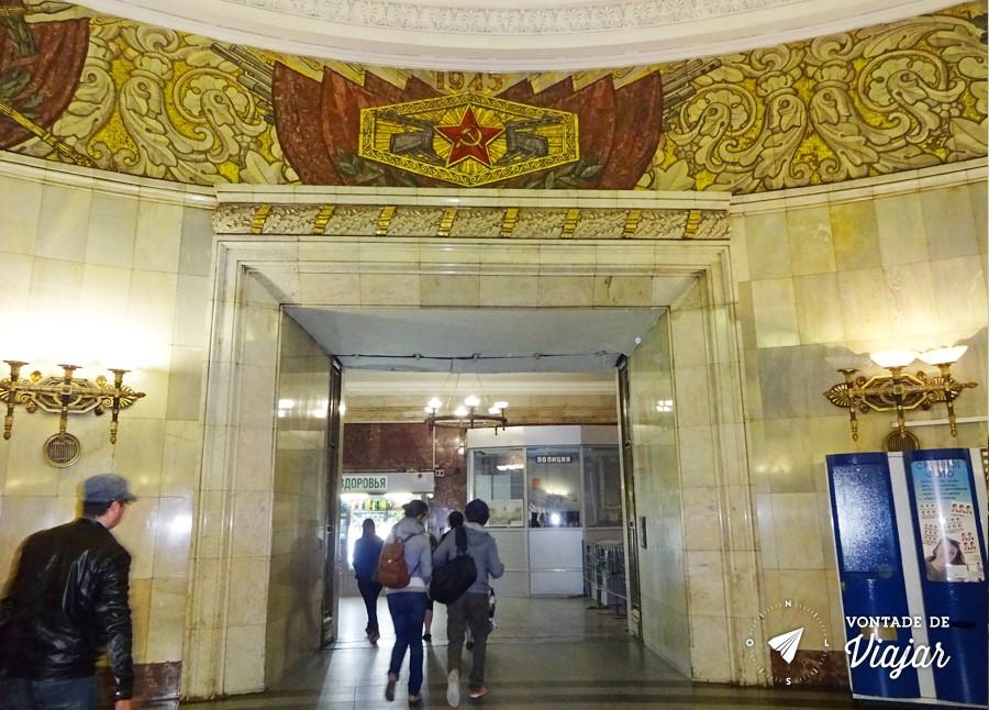 Metro de Moscou - Simbolos sovieticos no metro de Moscou