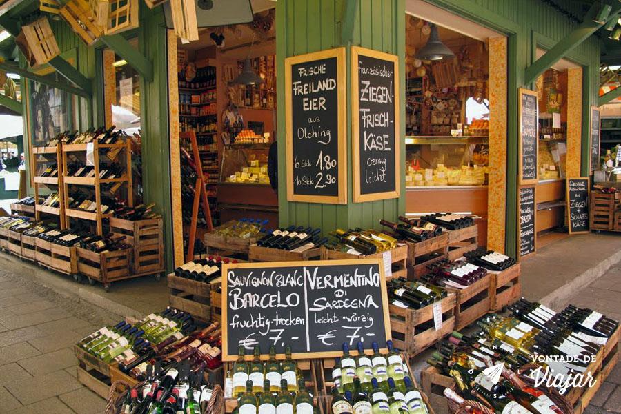 Viktualienmarkt - Feira Gastronomia em Munique
