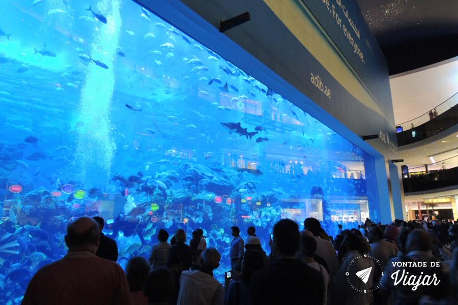 Emirados Arabes - Arquario no Dubai Mall - foto de Anna Carolina Levier para o blog Vontade de Viajar
