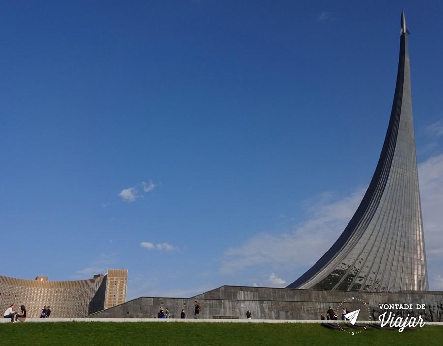 Museu da Cosmonautica - Monumento aos Conquistadores do Espaco em Moscou