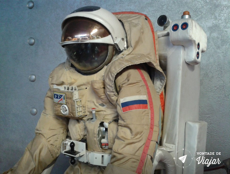 Museu da Cosmonautica - Roupa de astronauta ou seria roupa de cosmonauta