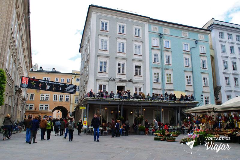 O que fazer em Salzburg - Praca do Cafe Tomaselli