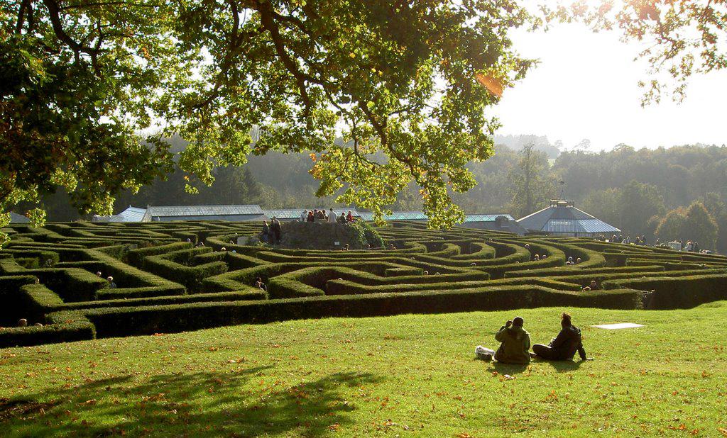 Programas diferentes em Londres - Labirinto verde no Castelo de Leeds