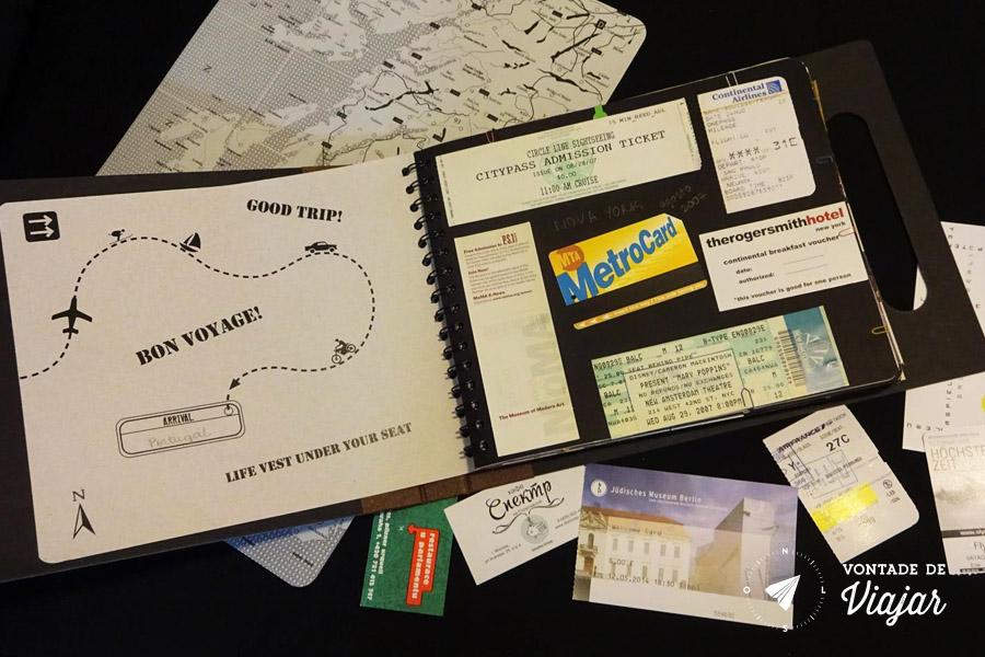 scrapbook-de-viagem-colagem-de-tickets-de-viagem