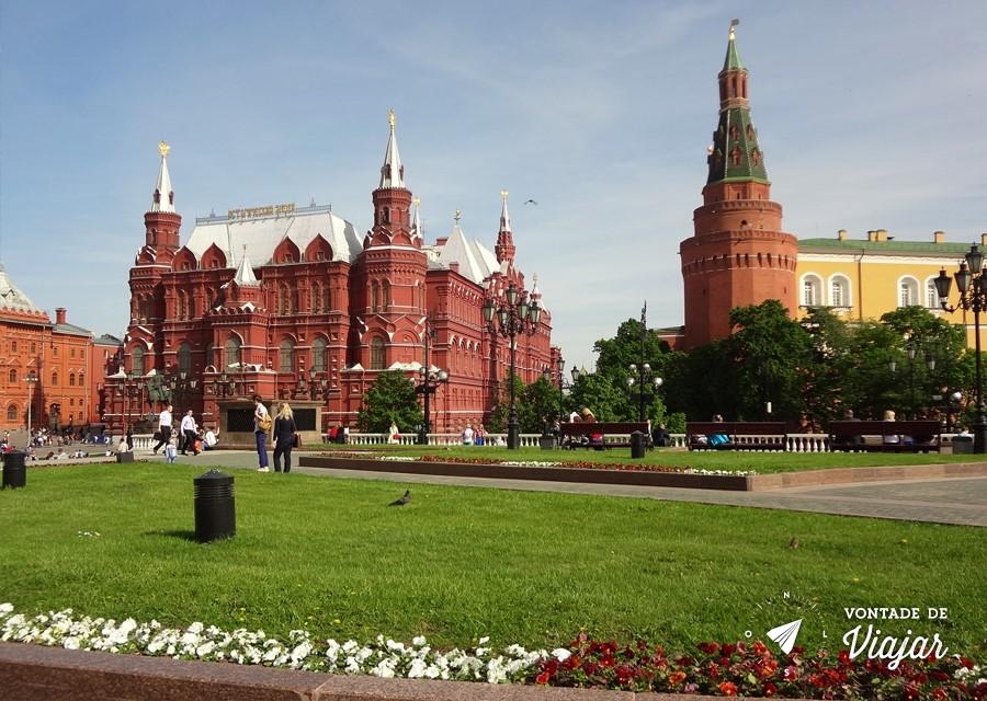 O que visitar em Moscou - Jardins de Alexandrovski em Moscou na Russia
