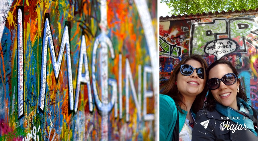 Lennon Wall - Citacoes dos Beatles em Praga