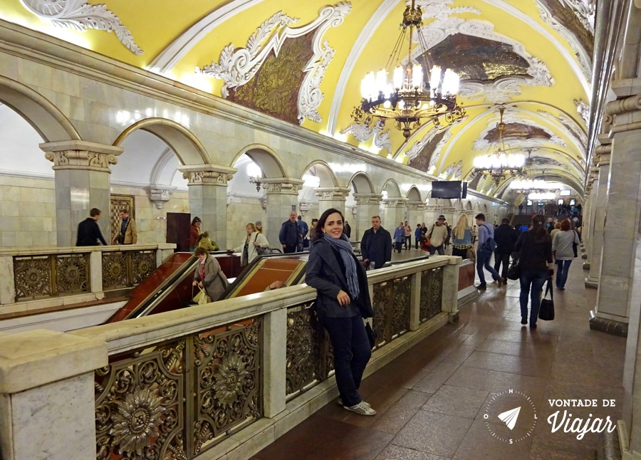 Nanda na estação Komsomolskaya