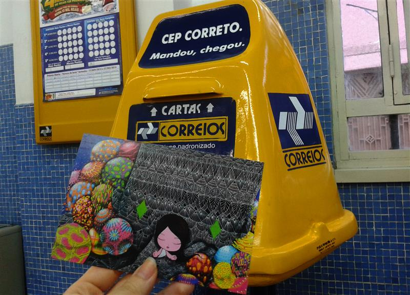 Viajante Secreto - Amigo oculto de cartao postal - do Rio para Roma