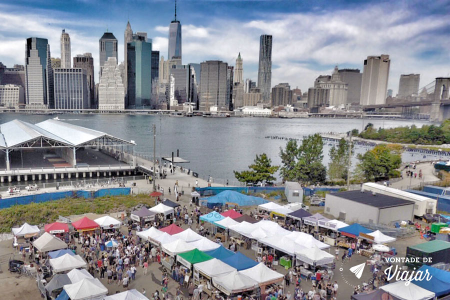 Brooklyn Bridge Park - A feira gastronomica Smorgasburg