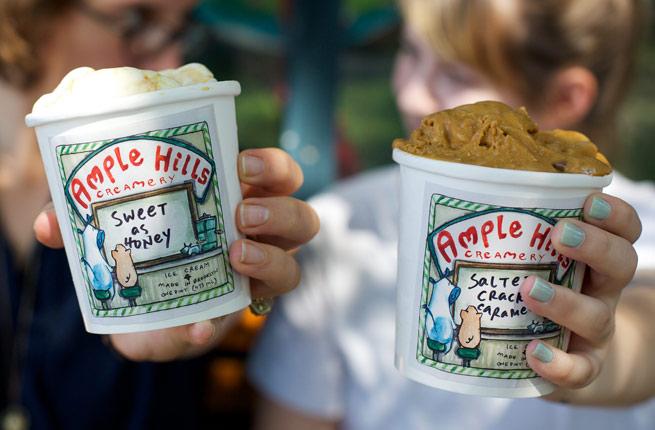 Brooklyn Bridge Park - Potes de sorvete da Ample Hills Creamery - foto Peter Petracca