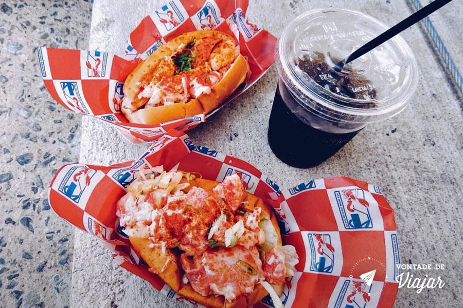 Brooklyn Bridge Park - Sanduiche de lagosta na feira gastronomica Smorgasburg