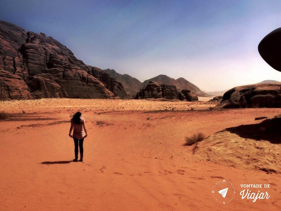 Jordania - Carol no deserto de Wadi Rum