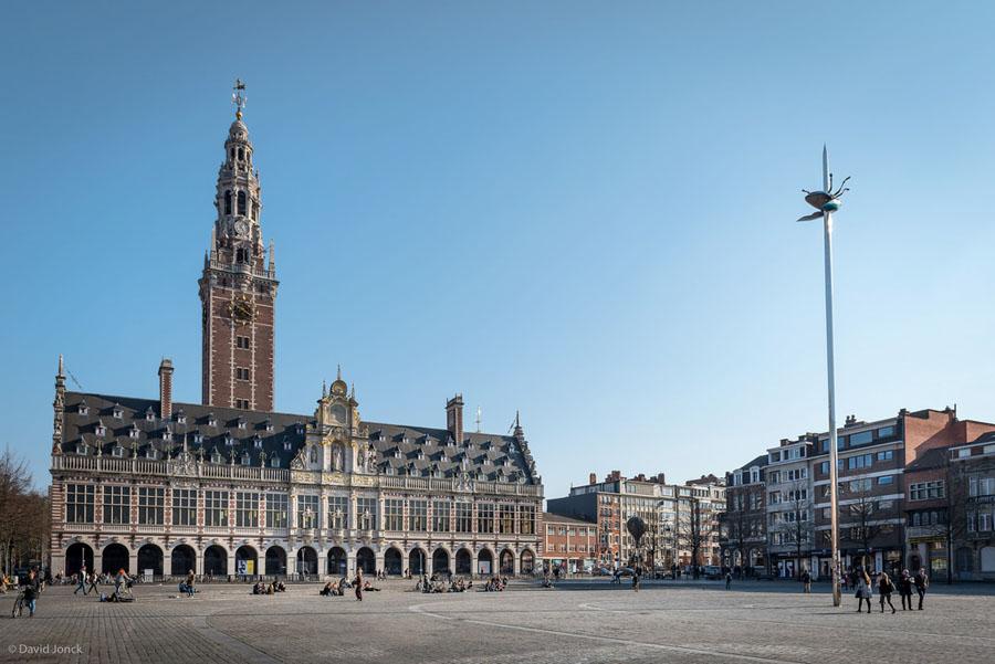 Leuven Belgica - Biblioteca da Universidade Catolica de Leuven - Foto de David Jonck