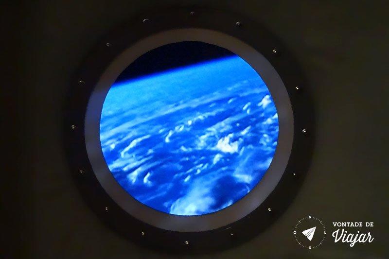 Museu Espacial em Moscou - Imagem de como a terra é vista do espaço