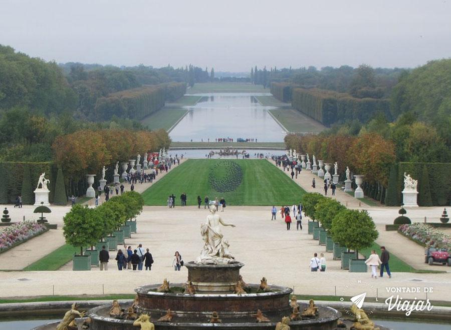 Palacios nos arredores de Paris - Jardim do palacio de Versailles