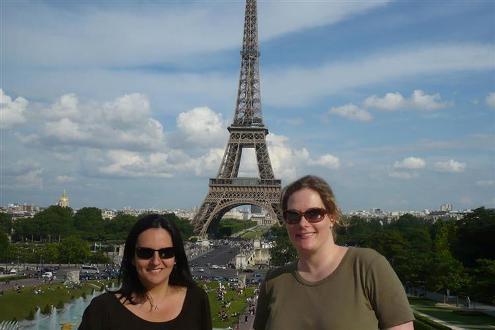 Amizade de intercambio - Gabi e Suzi em Paris