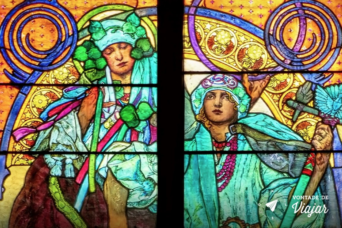 Catedral de Sao Vito - o vitral art nouveau de Mucha - foto idnotavailable
