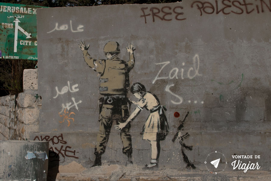 Israel - Graffiti Banksy em Jerusalem