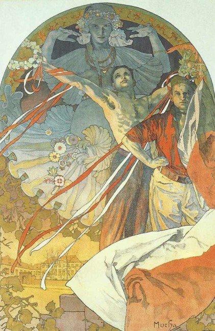 Museu Mucha - Obras ufanistas projetavam a identidade do povo eslavo
