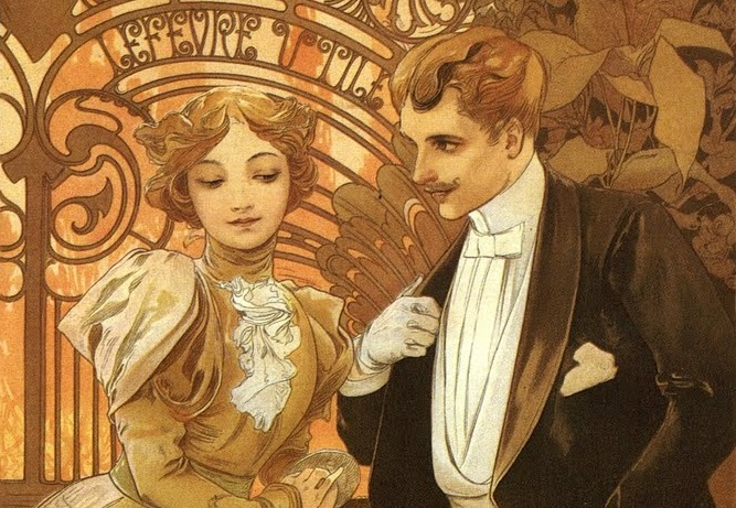 Museu Mucha Praga - Flirt cartaz biscoitos Lefevre