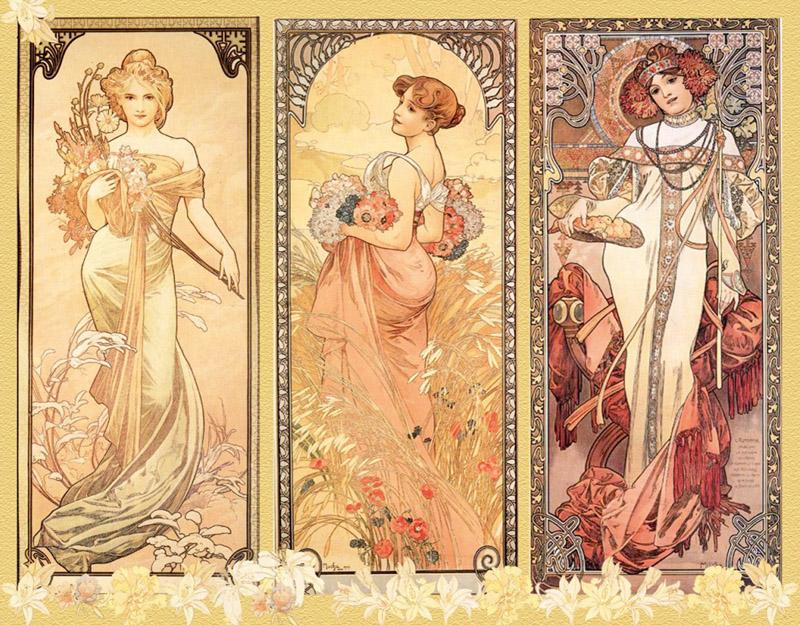 Museu Mucha Praga - Mulheres art nouveau