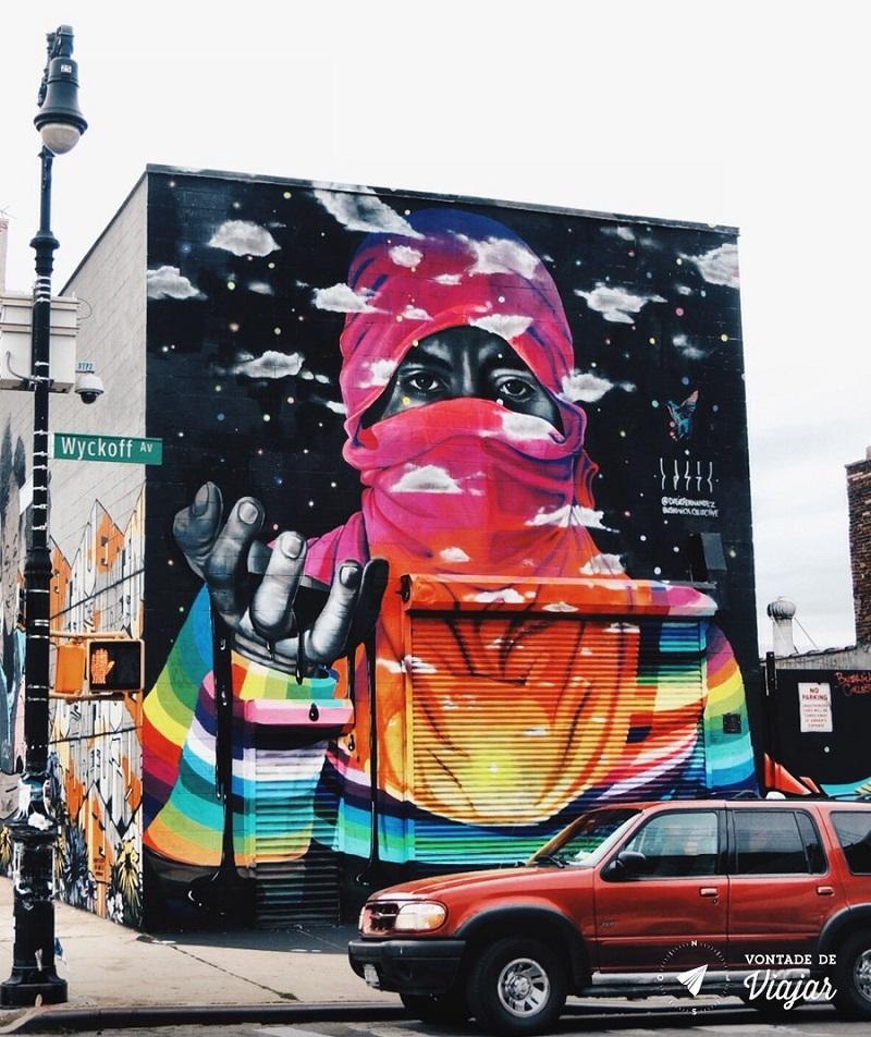 Arte de rua no Brooklyn NY - Grafite no Brooklyn em NY