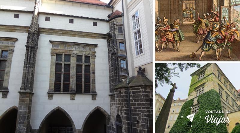 Antigo Palácio Real e a Defenestração de 1618