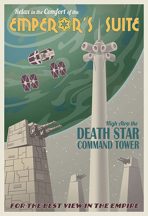 Poster de viagem - Star Wars Estrela da Morte - Steve Thomas