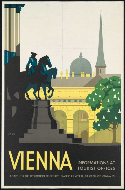 Poster de viagem retro - Viena
