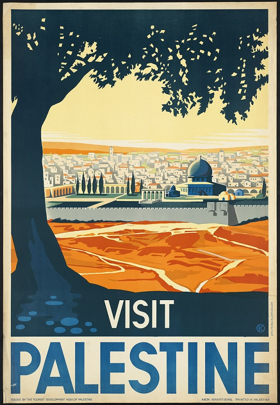 Poster de viagem vintage - Palestina
