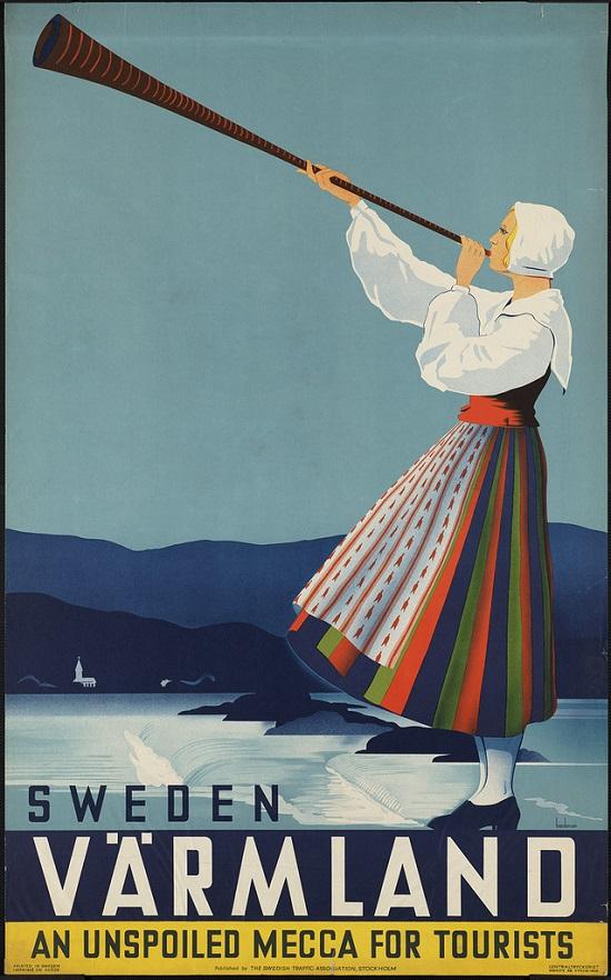 oster de viagem vintage - Suecia