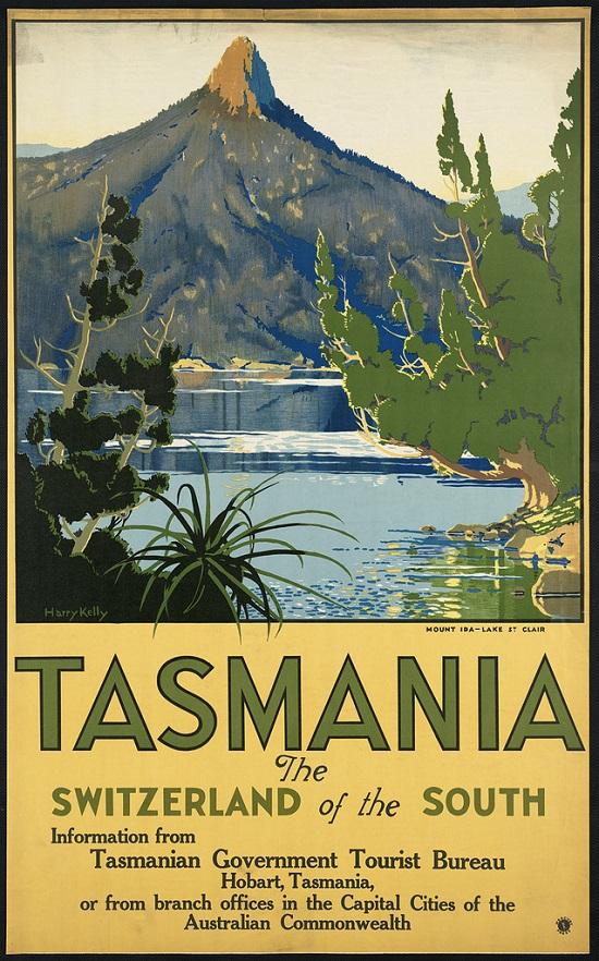 Poster de viagem vintage - Tasmania