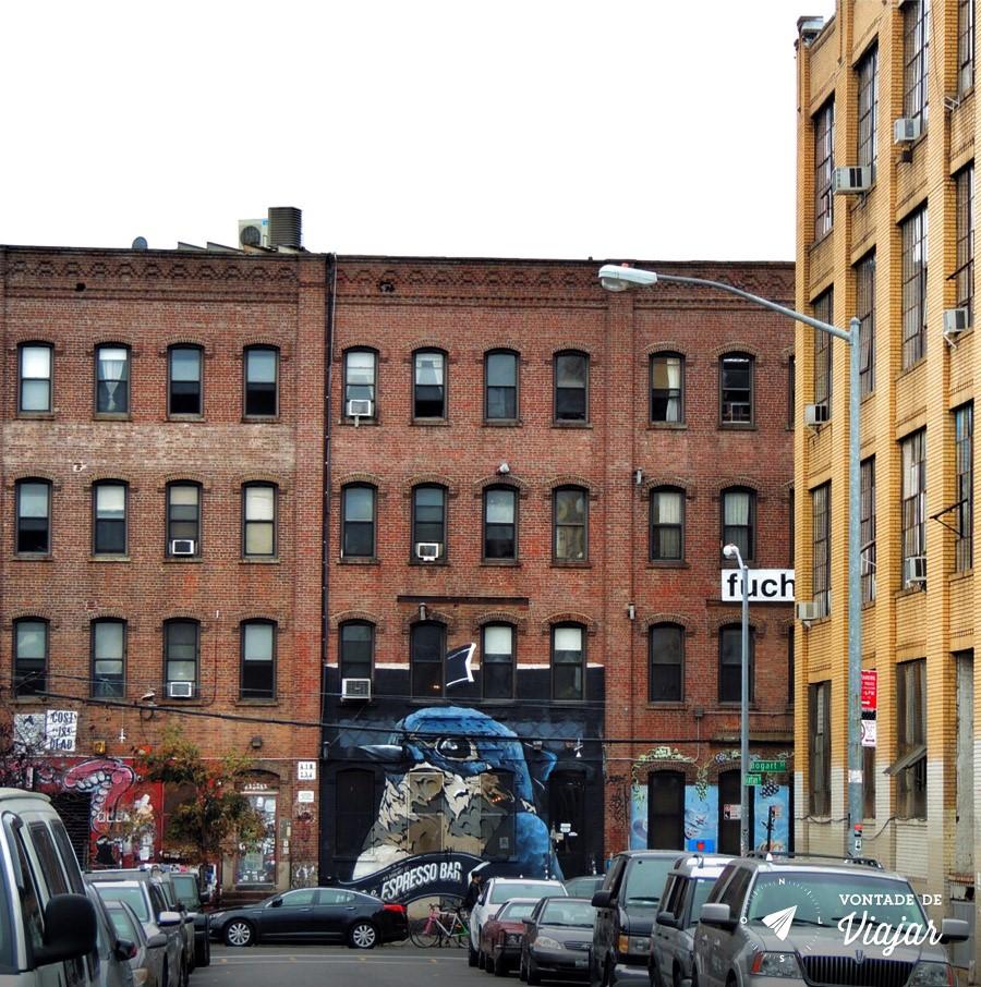 Arte de rua no Brooklyn NY - Grafite em NY