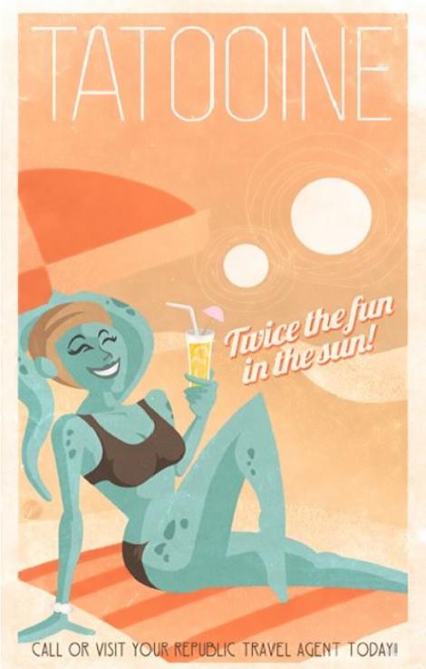 Poster de viagem - Star Wars Tatooine - Jason Weidel