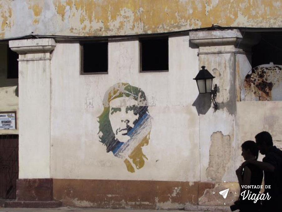 Havana Cuba - grafite de Che Guevara - foto do blog Vontade de Viajar