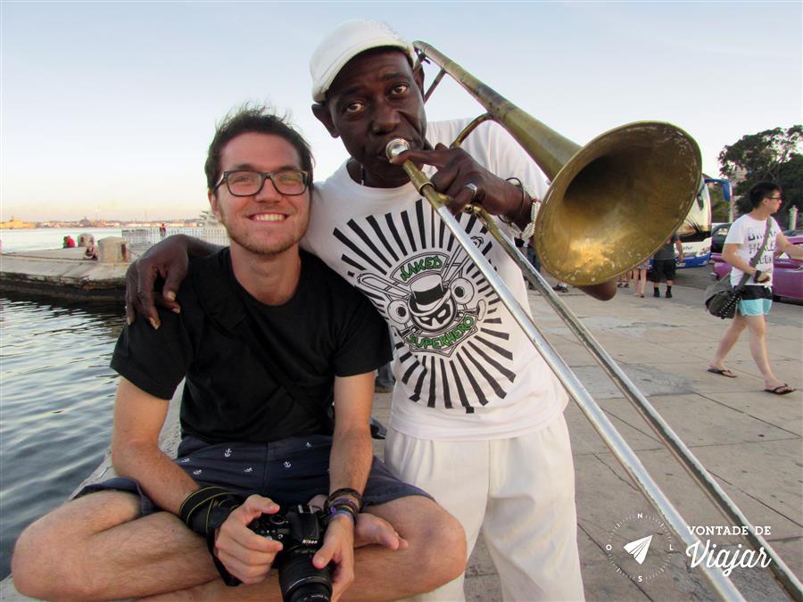 Havana Cuba - musico de jazz - foto do blog Vontade de Viajar