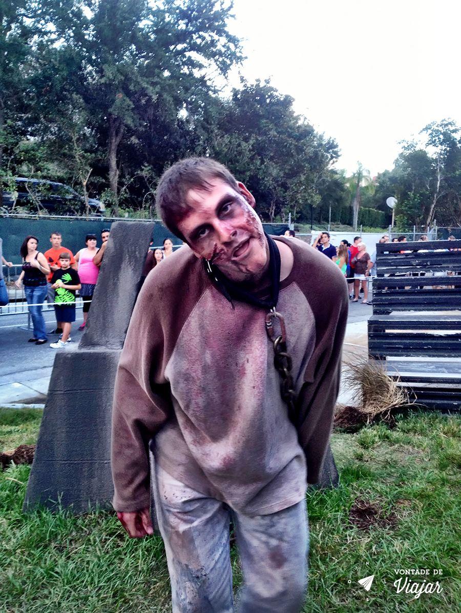 Halloween em Orlando - Zumbi no Parque da Universal